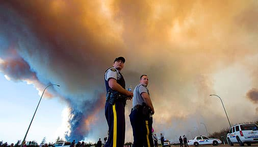 RCMP at Alberta wild fires