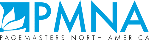 Page Masters North America (P M N A) logo