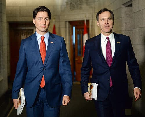 Prime Minister Justin Trudeau and Minister of Finance Bill Morneau