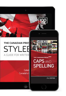 Ensemble en ligne du Stylebook et Caps and SpellingImage