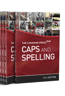 The Canadian Press Caps and SpellingImage