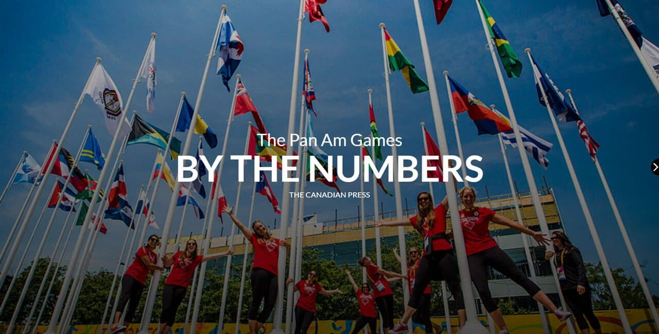 A still from the Pan Am games interactive graphic