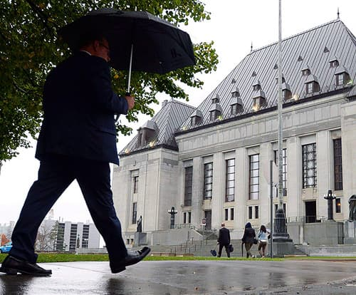 The Supreme Court of Canada building is pictured, in Ottawa, on October 15, 2014.