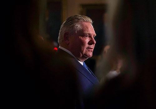 Ontario Premier Doug Ford speaks to media