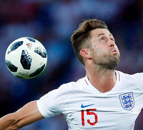 England's Gary Cahill, in action during the group G match against Belgium